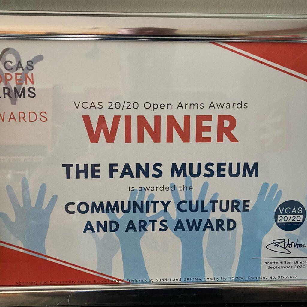 Fans Museum Wins VCAS Award
