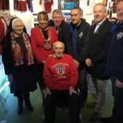 Ernie celebrates turning 103 at the Fans Museum