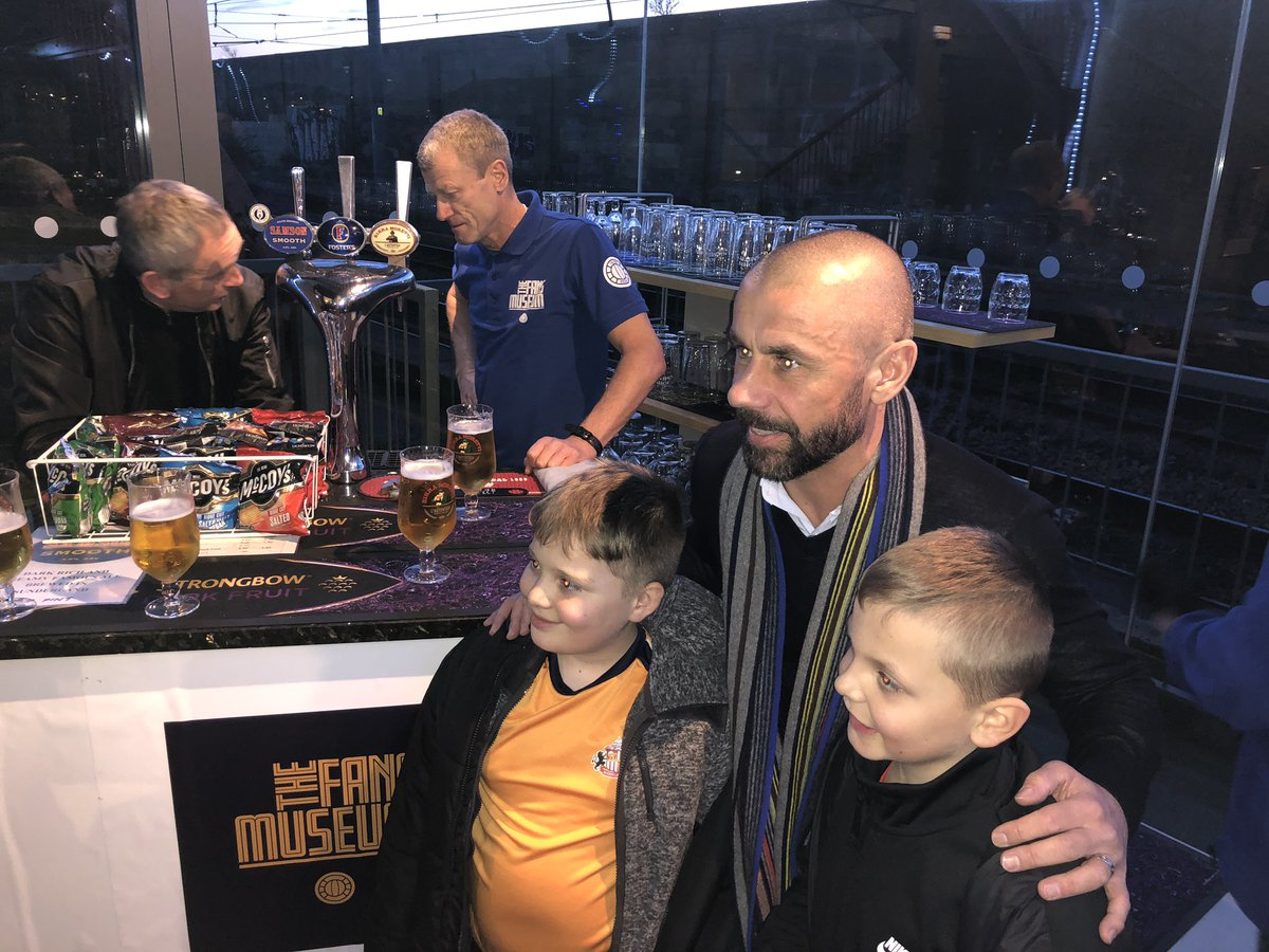 Kevin Phillips visits the Fans Museum